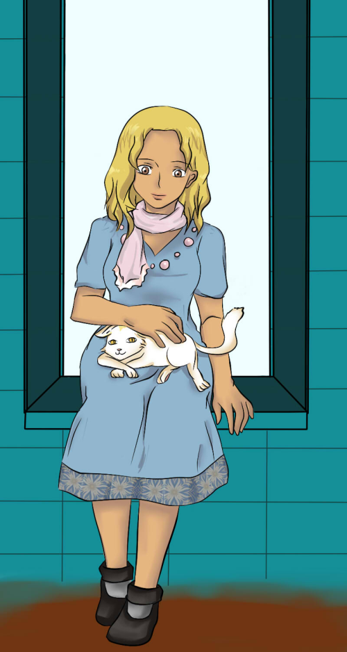 Guest Art: Camellia and cat
