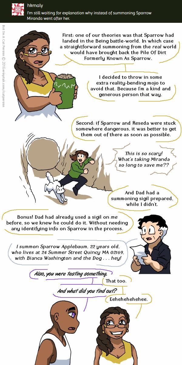 Ask A Character #2 – Miranda