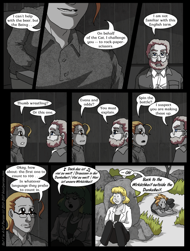 Chapter 25 Page 8 – How about rock-paper-scissors-Spock-lizard?