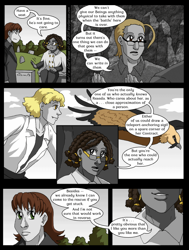 Chapter 25 Page 11 – This is a job for a cat person