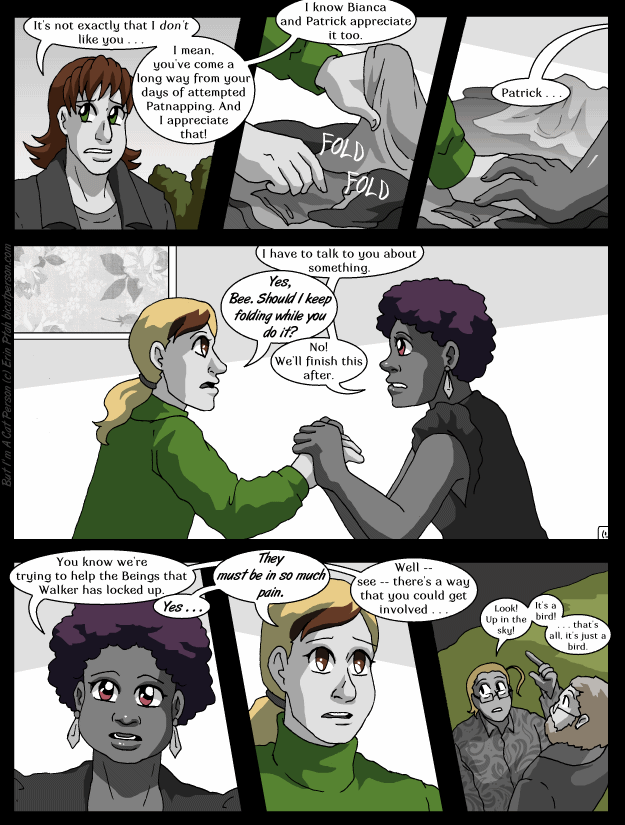 Chapter 25 Page 12 – Just let me match one last pair of socks