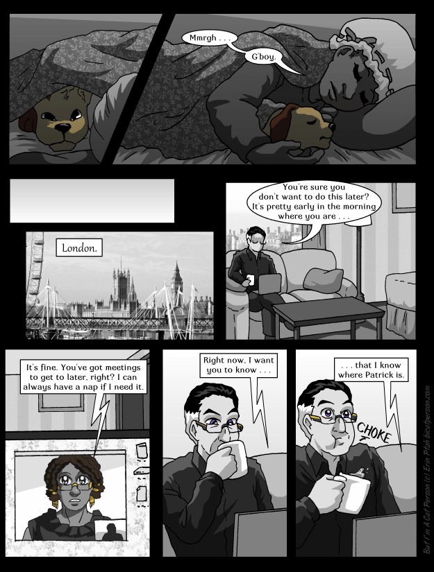 Chapter 26 Page 5 – When you're just barely too-poised for a spit-take