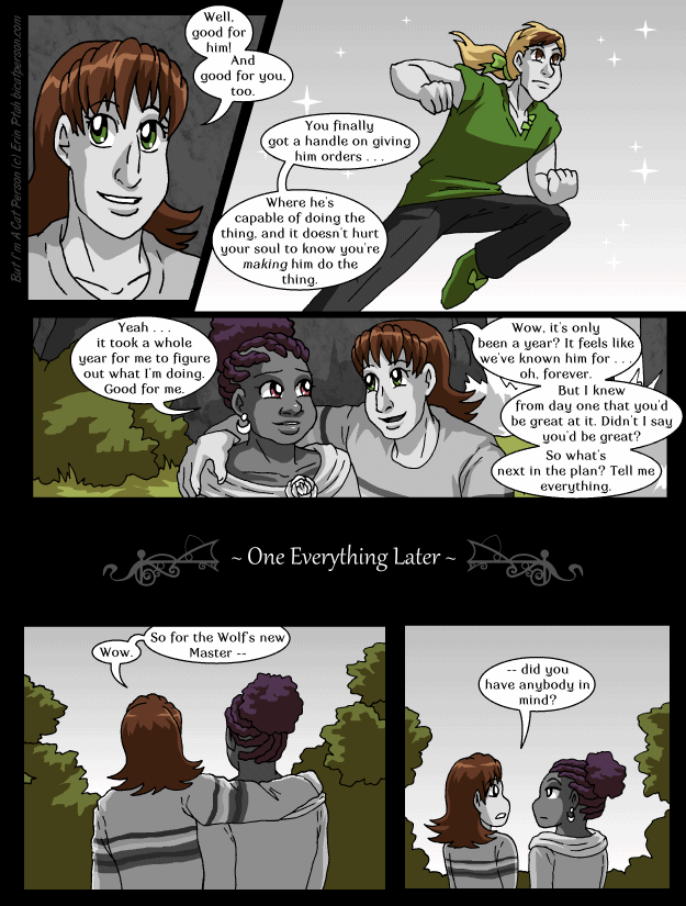Chapter 26 page 26 – It feels like it's been…seven years, would you say?