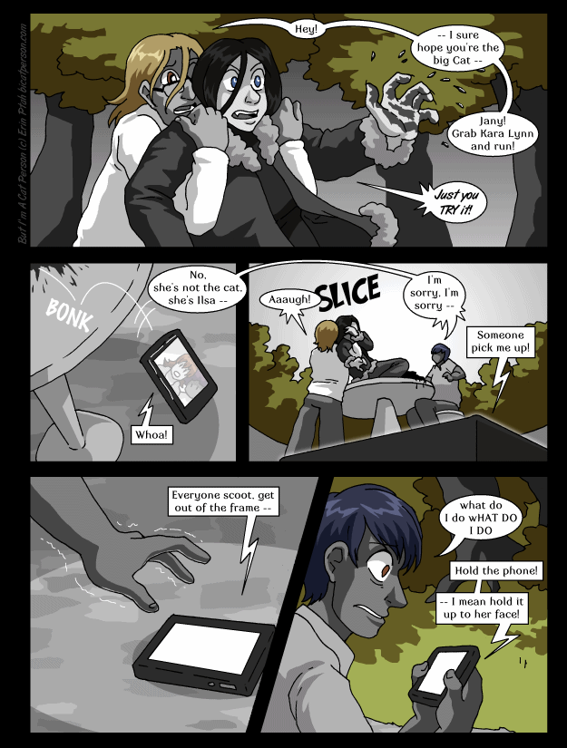 Chapter 27 page 8 ~ On the phone with golem tech support