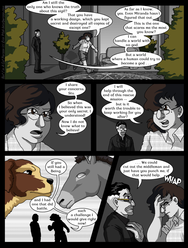 Chapter 27 page 20 ~ The throw rug of functional omniscience