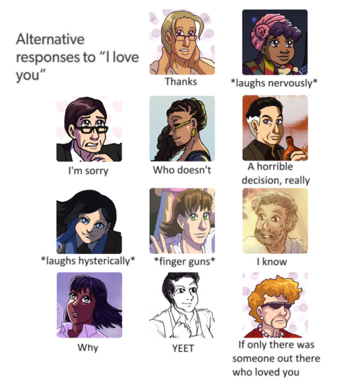 "Alternative responses to ""I love you"""