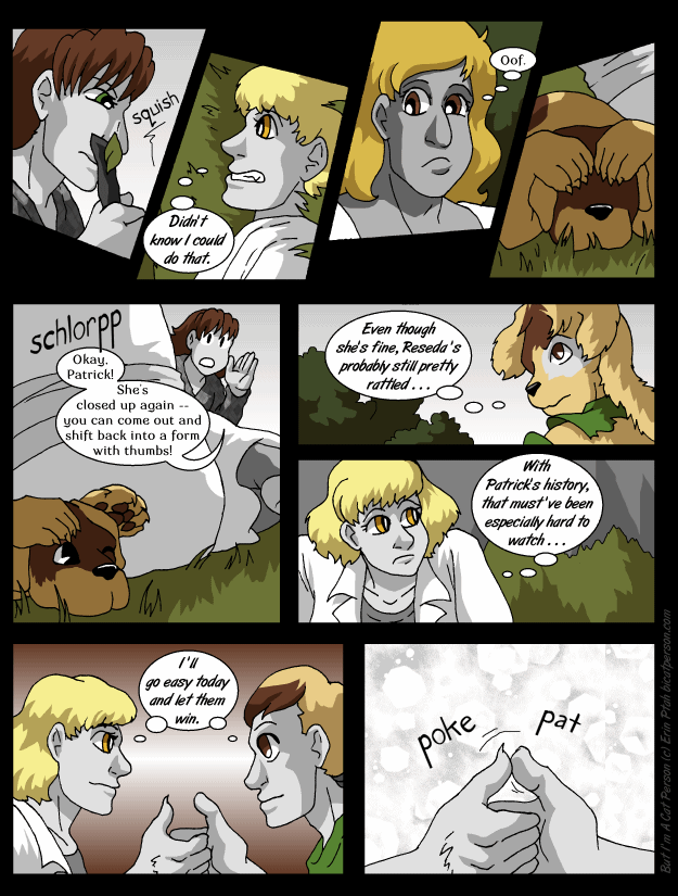 Chapter 28 page 5 ~ Mutual pulling of punches (or in this case, of thumbs)
