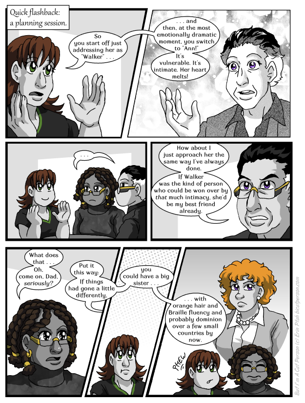 Chapter 28 page 13 ~ AU where Cohen has an accidental kid with every member of the cast over 40