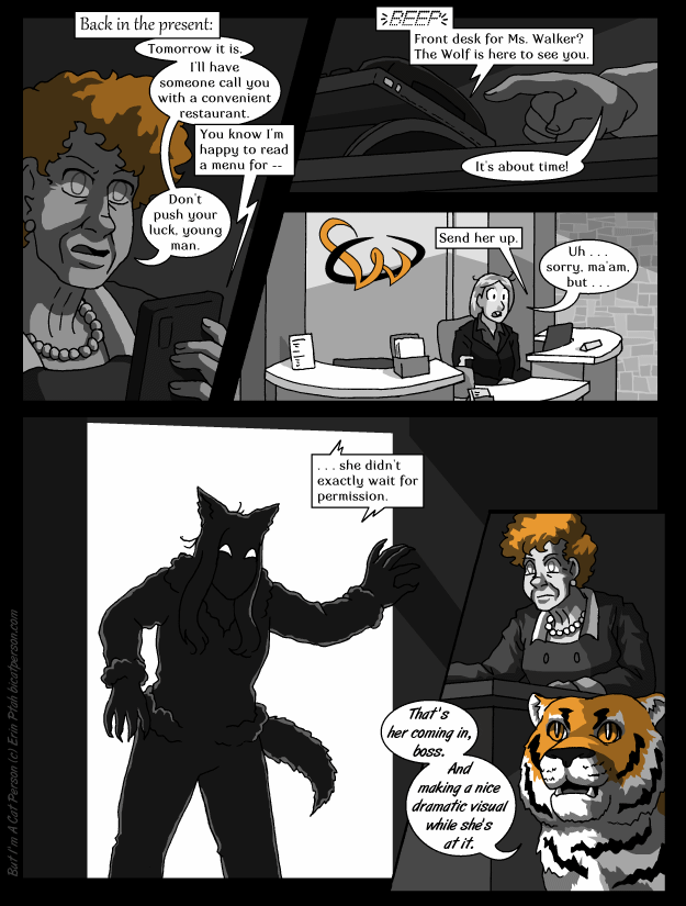 Chapter 28 page 14 ~ Furry silhouette