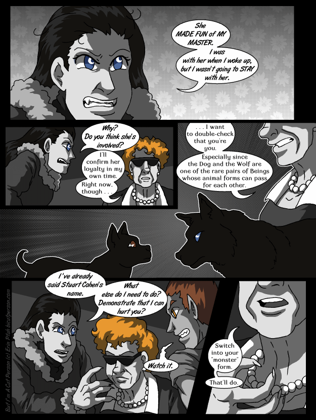 Chapter 28 page 16 ~ Commenters are debating Ilsa's loyalties, Walker is debating Ilsa's location