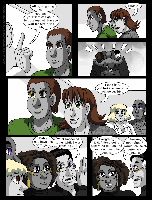 Chapter 28 page 18 ~ Too many characters in this scene, gotta thin them out somehow