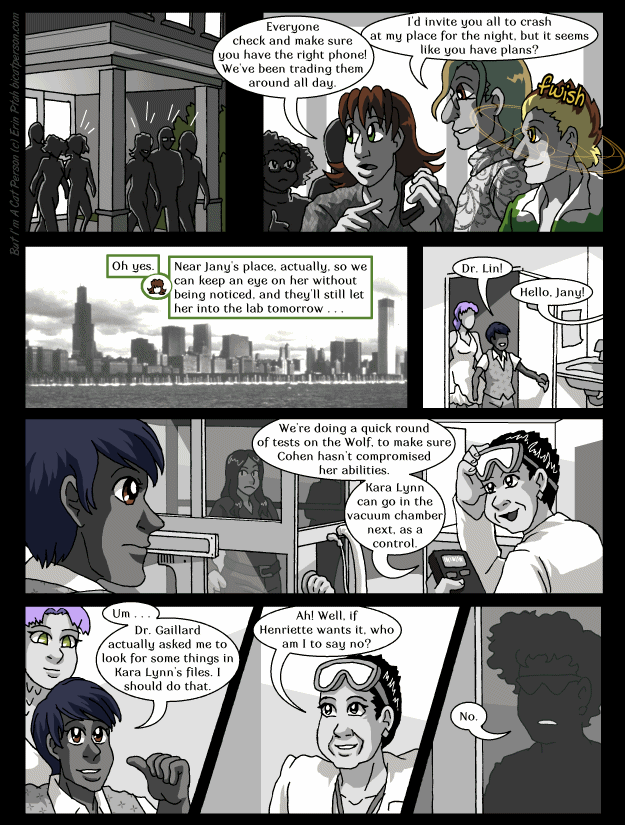 "Chapter 28 page 20 ~ ""Where is Henriette, anyway?"" ""Conveniently-timed vacation in another plot thread."""