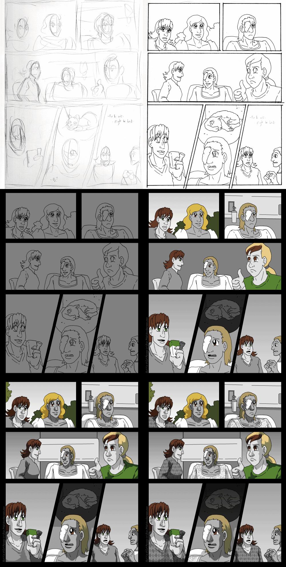 The webcomic page-making process
