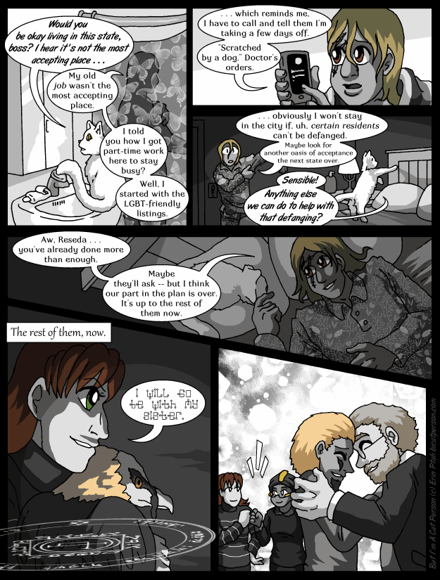 Chapter 29 page 3 ~ The fantasy version of bringing a cat to a new home