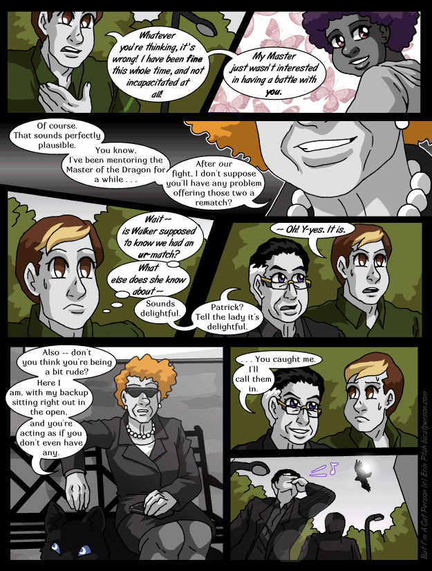 Chapter 29 page 17 ~ Life's a bench and then you fly