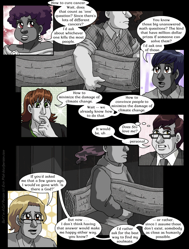 """Chapter 30 page 2 ~ The answer to all of them was """"Reply hazy; ask again later"""""""