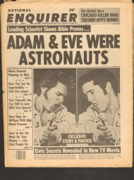 Tabloid cover with Elvis