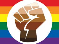 Rainbow/Black Power flag
