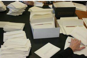 Envelope stuffing piles