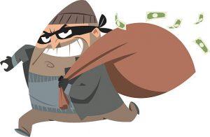 Bank robber cartoon