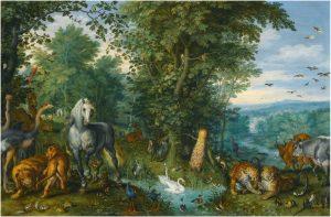 Painting: Jan Brueghel, Garden of Eden with Fall of Man
