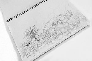 Sketch for the Eden Project in Cornwall UK