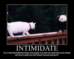 'Intimidate' motivational poster