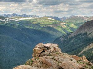 High mountain ledge
