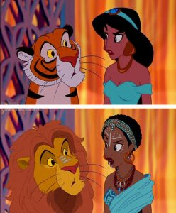 Disney's Jasmine racebending, Middle Eastern to Africa