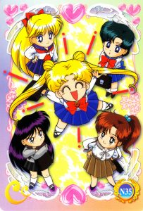 Sailor Moon chibi ensemble