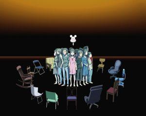 Bokurano scene with chairs