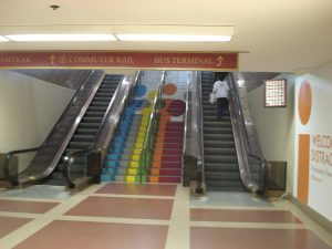 South Station stairs