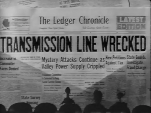 Movie newspaper