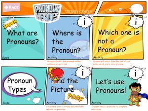 Pronoun graphic