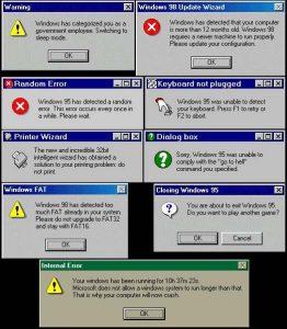 parody Windows errors