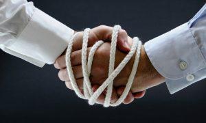 Handshake bound with rope